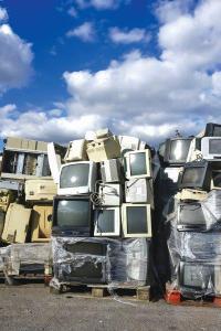 Old computer monitors