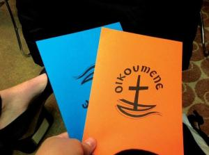 The World Council of Churches 10th Assembly used blue and orange cards to facilitate their consensus model.