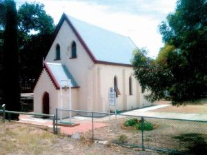 Dongara Uniting Church. Typical of small country towns, the church can be the hub of the community.