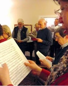 The Hallelujah Chorus with (l-r) John, Ellen and Bill Lemen.