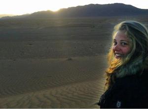 Overlooking the desert sunrise in Zagora, Morocco.