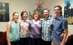 The Illingworth family from left: Anneliis, Rebekah, Deborah, Mark and Zachary.