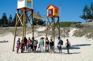 The students took some time out to visit the Sculptures by the Sea Exhibition at Cottesloe Beach.